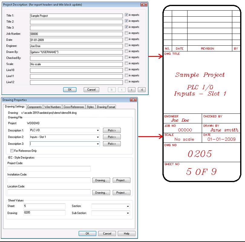 autocad electrical user s guide title block rh docs autodesk com AutoCAD 2010 AutoCAD 2008