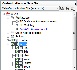 autocad 2010 user documentation overview of workspace customization