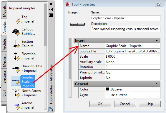 AutoCAD 2010 User Documentation: Control Tool Properties