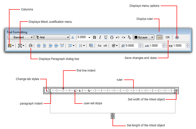 Autocad 2010 User Documentation In Place Text Editor