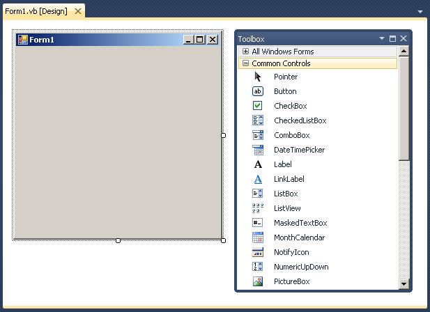 Sg Use The Windows Form Designer