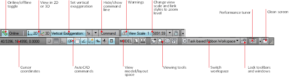 how to show menu bar in autocad