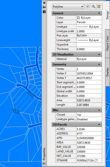 autocad how to make one line in polyline different colour