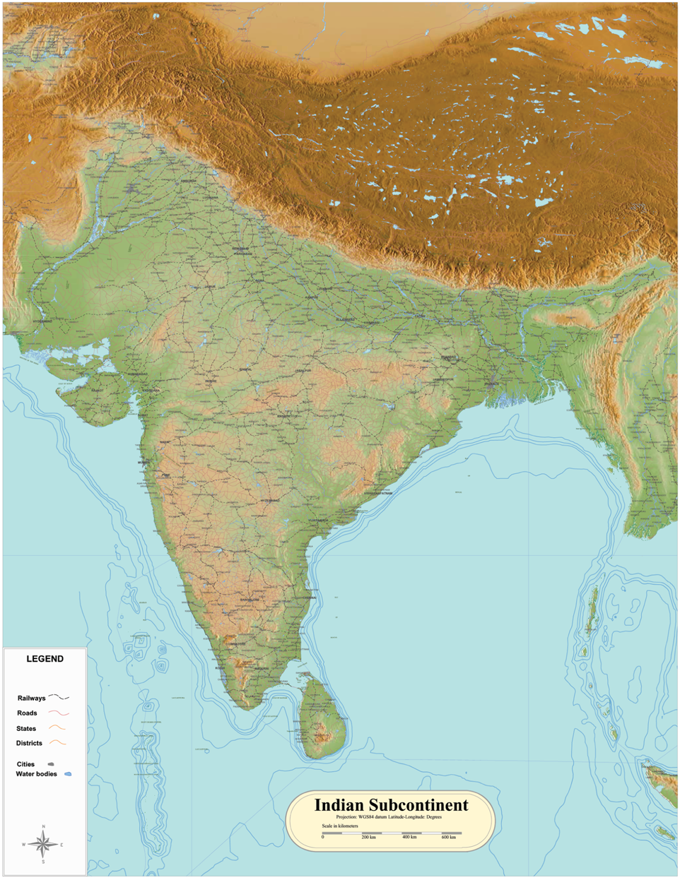 Indian subcontinent wall map on pakistan map, bombay presidency map, egypt map, bangladesh map, india map, indian ocean, south asia, indian independence movement map, south america map, british raj, alps mountains map, dravidian languages, mongolia map, indus valley civilization, south india, union territory map, indus river, indus river map, taiwan map, middle eastern map, delhi map, caribbean map, middle east map, punjab region, indian diaspora map, indian arabian sea map, asia map, scandinavia map, british east india company,