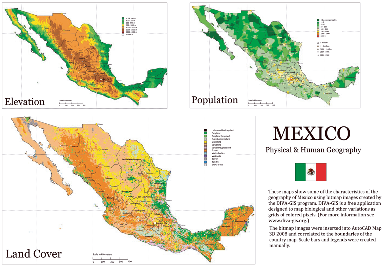 Mexico physical and human geography – Geographical Map of Mexico