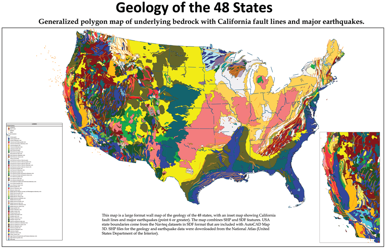 US geology map