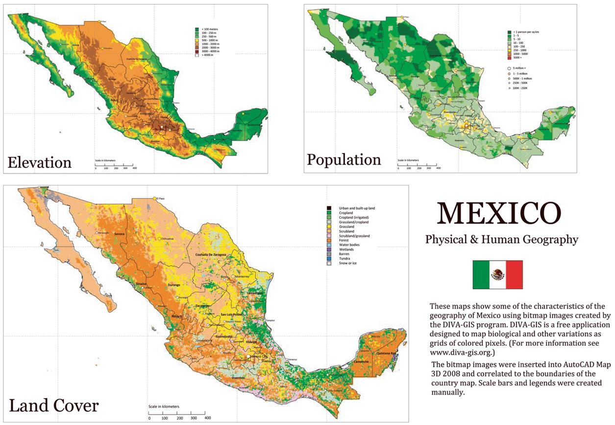 Cartina Geografica Fisica Del Messico.Geografia Fisica E Umana Del Messico