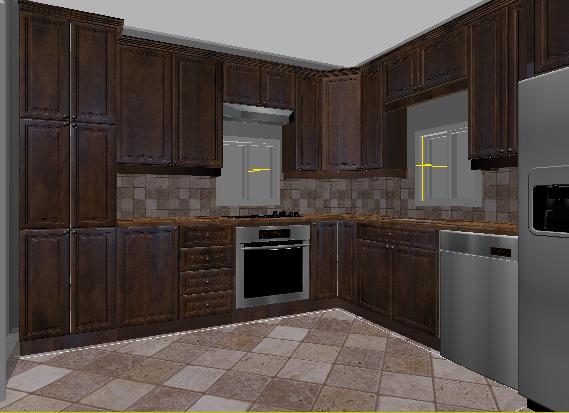 Kitchen Cabinet Ds Max