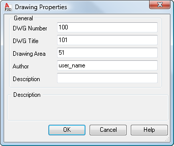 how to change author name in autocad