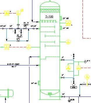Benutzerhandbuch: Hinzufügen von Komponenten zu einer P&ID-Zeichnung