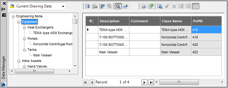 AutoCAD Plant 3D 2014: Data Manager