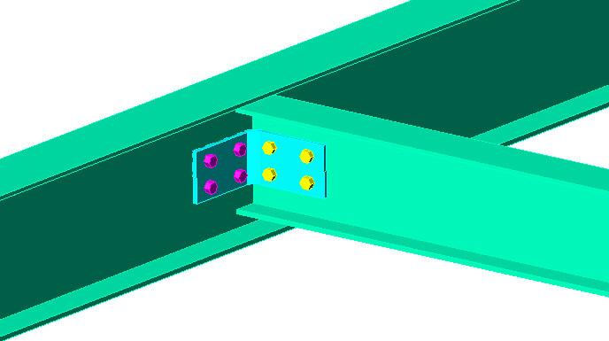 Clip angle beam web